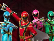 Power Rangers entrenamiento